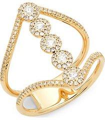 14k yellow gold & 0.50 tcw diamond midi ring