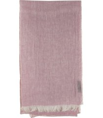 fay linen scarf pink