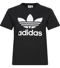 adicolor classics trefoil t-shirt w t-shirts & tops short-sleeved svart adidas originals
