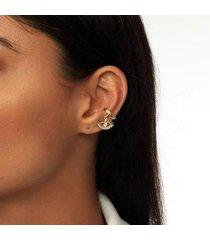 piercing kaka corrêa com olho cravejado de zircônias folheado a ouro 18k - feminino