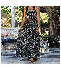 rayon a-line dress, 'venus flowers' (indonesia)