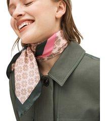 kate spade new york flower stripe silk square scarf