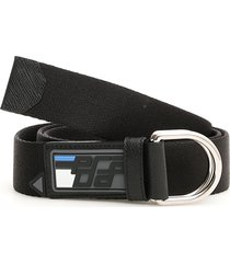 prada fabric belt with rubber logo