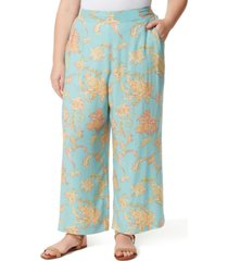 jessica simpson trendy plus size julie printed long pants