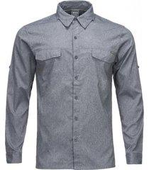 camisa rosselot q-dry shirt l/s melange azul marino lippi