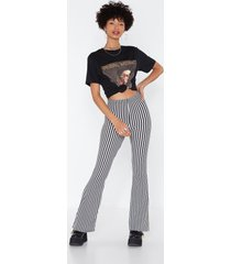 womens living on a thin line flare pants - black
