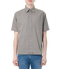 fendi gray cotton shirt with ff logo