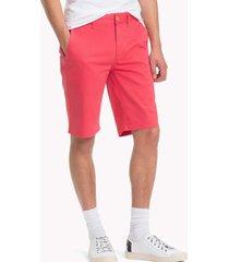 bermuda básica recta rojo tommy jeans