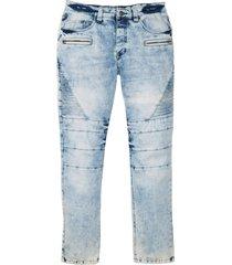 jeans elasticizzati stile biker slim fit straight (blu) - rainbow
