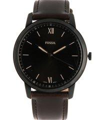 reloj café-negro fossil