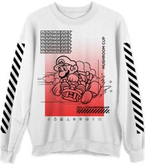 mario mushroom champ men's graphic sweatshirt