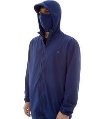 chaqueta antifluido hombre azul color azul, talla l