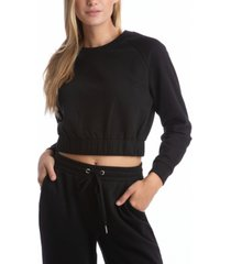 juicy couture women's fleece long sleeve pullover