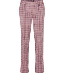 pantaloni a quadri con elastico in vita (bianco) - bpc bonprix collection