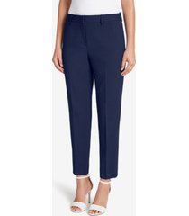 tahari asl solid straight-leg ankle pants