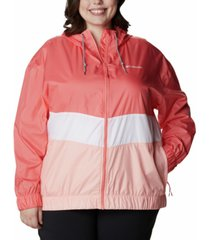 columbia plus size sandy sail windbreaker jacket