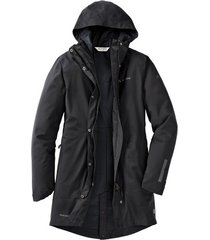 dames functionele parka cyclist padded met capuchon, zwart 46