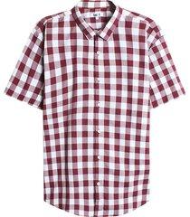 camisa vinotinto-blanco facol