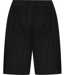 pleats please issey miyake plissé shorts - black