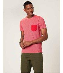 camiseta slim em malha fio a fio malwee vermelho - g