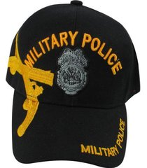 us warriors u.s. army military police with gold pistols baseball hat one size bl