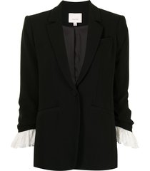 cinq a sept frill cuff blazer - black