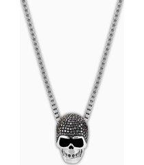 pendente taddeo skull, nero, mix di placcature