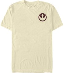 fifth sun star wars men's rebel patch stitched short sleeve t-shirt