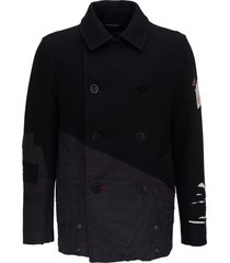 paul & shark patchwotk peacoat in wool and nylon