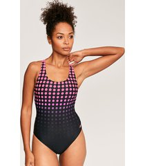 sphere polka dot actionback one-piece swimsuit