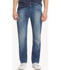 tommy hilfiger men's mid rise straight fit jean berry mid blue comfort - 29/34