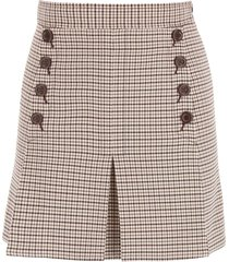 see by chloé mini skirt with buttons