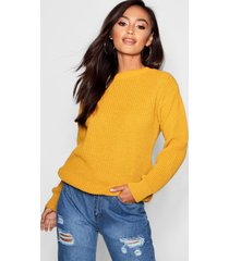 petite ivy oversized trui, mosterd
