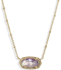 kendra scott elisa satellite pendant necklace in gold lilac abalone at nordstrom