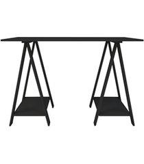 mesa em mdp com cavalete multiuso 80x120cm preta