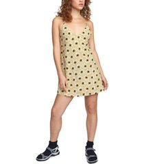 rvca juniors' amour floral-print mini dress