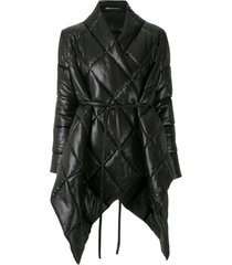 uma   raquel davidowicz jaqueta dumbo matelassê oversized - preto