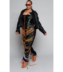 akira plus no strings attached lace up jumpsuit
