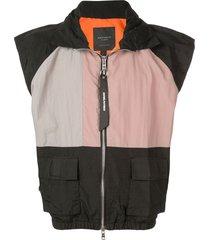 daniel patrick cargo vest - black
