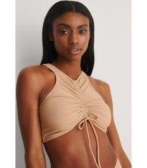 na-kd swimwear dragsko bikiniöverdel - beige