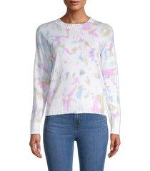 philosophy women's crewneck cotton-blend sweater - white pink - size xl