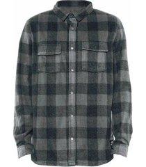 camisa quiksilver xadrez surf days masculino