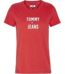 polera square rojo tommy jeans