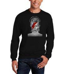 la pop art men's david bowie aladdin sane word art crew sweatshirt