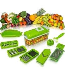 kit fatiador cortador ralador manual legumes verdura clink - tricae