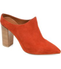 journee signature women's genuine suede miller booties women's shoes