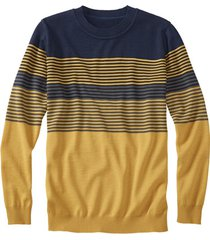 gestreepte pullover uit bio-merinowol, saffraan xxl