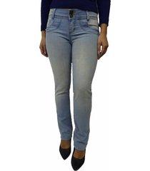 calça jeans bazz acrux dois botões azul