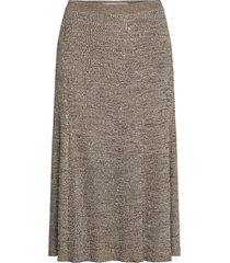 bonnie skirt 12933 knälång kjol brun samsøe samsøe