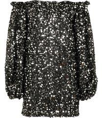 rotate by birger christensen gloria sequin mini-dress